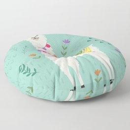 Festive Llama Floor Pillow