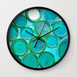 Turqoise Circles by Lika Ramati Wall Clock