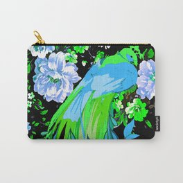 Flower and Peacock Garden Carry-All Pouch