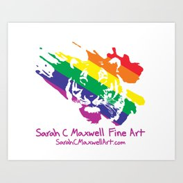 Tiger Logo- Rainbow Art Print