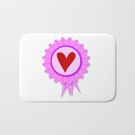 Love Heart Rosette Bath Mat