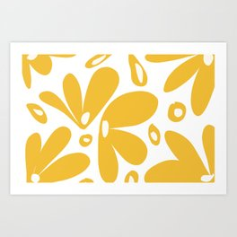 flower petals - yellow Art Print