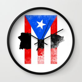Puerto Rico + Flag Wall Clock