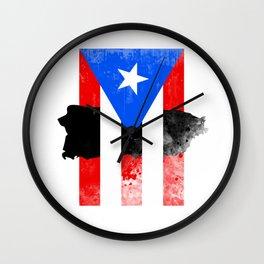 Puerto Rico + Flag Wall Clock