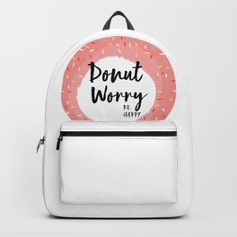 donut worry be happy Backpack