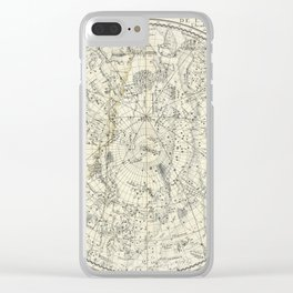 Southern Celestial Planisphere Clear iPhone Case