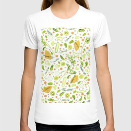 Fruits and vegetables pattern (20) T-shirt