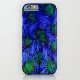 Blue And Green Marble Abstract iPhone Case