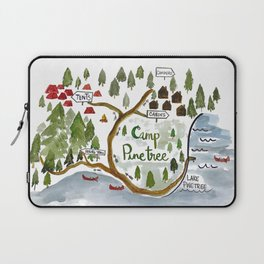 Map of Camp Pinetree Laptop Sleeve