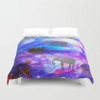 paradise Duvet Covers featuring paradise by haroulita