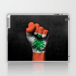 Lebanese Flag on a Raised Clenched Fist Laptop & iPad Skin