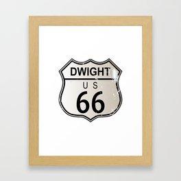 Dwight Route 66 Framed Art Print
