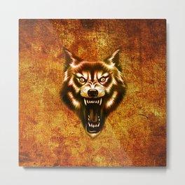 wolf roar Metal Print