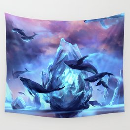 When the moon is closer Wall Tapestry