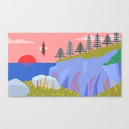 Bald Eagle Prince's Cove Eastport, Maine Canvas Print