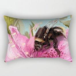 Bee on flower 17 Rectangular Pillow