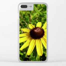 One Black Eye Susan In Summer Clear iPhone Case