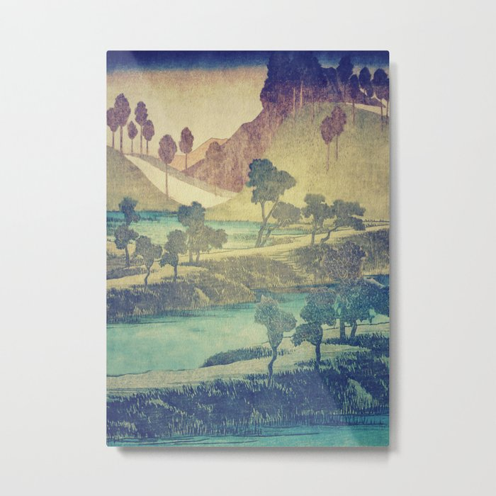 A Valley in the Evening Metal Print