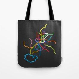 madrid metro map Tote Bag