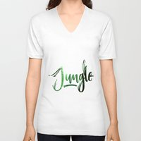 jungle V-neck T-shirts featuring Jungle by Insait