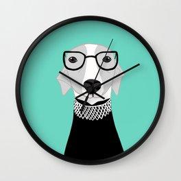 Ruth Bader Ginsburg Greyhound Wall Clock