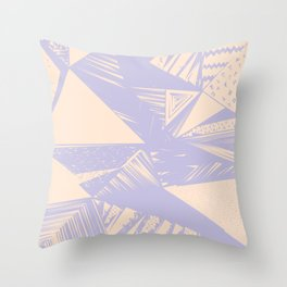 Modern lilac ivory violet geometrical shapes patterns Throw Pillow