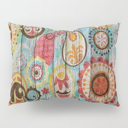 Kashmir on Wood 02 Pillow Sham