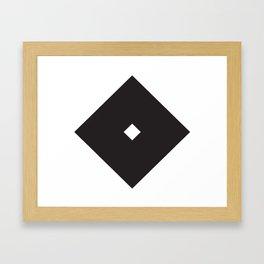 角立一ツ目 Framed Art Print