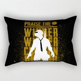 Praise the winner Rectangular Pillow
