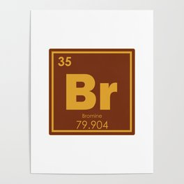 Bromine chemical element Poster