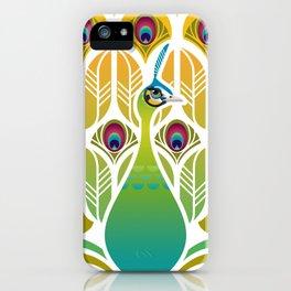 Java Green Peacock [Pavo Muticus] iPhone Case