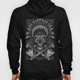 Chief Indian Skull Hoody