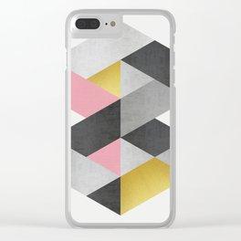 Polygon geometry XVIII Clear iPhone Case