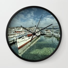 Paddle Boats of Lake Lucerne Wall Clock