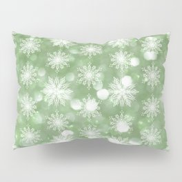 Holiday Mint and Flurries Pillow Sham