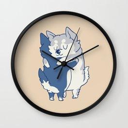 Husky Hugs Wall Clock