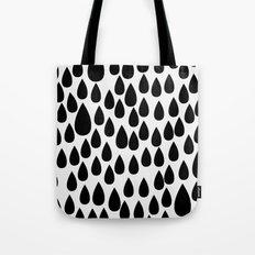 Black drops Tote Bag