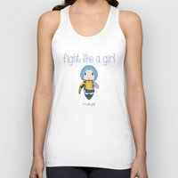 borderlands Tank Tops featuring Fight Like a Girl | Maya - Borderlands by ~ isa ~