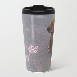 """Cat Skeptical"" from the photo series""My dog, PLaY-DoH"" Travel Mug"
