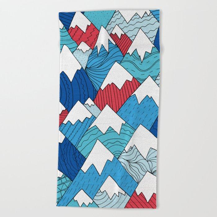 Mountain Pattern 2.0 Beach Towel