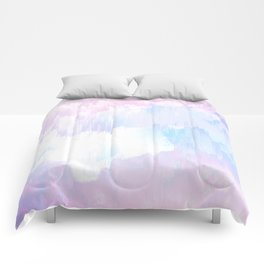 Sky Fall Dream Pastel Glitch - pink and blue Comforters