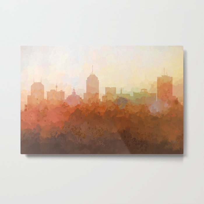 Fresno, California Skyline - In the Clouds Metal Print