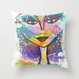 Oh My Darling, Its True. Beautiful Things Have Dents and Scratches Too Throw Pillow