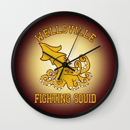 """Wellsville Fighting Squid (Notre Dame/""""Pete and Pete"""" parody) Wall Clock"""