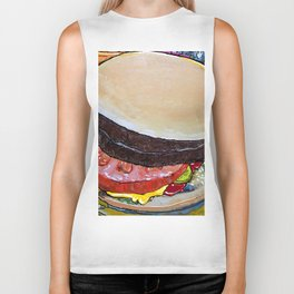 The Hamburger with Mustard, Pickle and Tomato Biker Tank