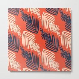 Orange Palms Metal Print