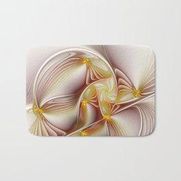 Decor with Gold, Abstract Fractal Art Bath Mat
