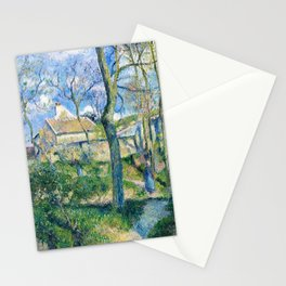 Camille Pissarro - The Path To Les Pouilleux, Pontoise - Digital Remastered Edition Stationery Cards