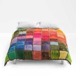 Rainbow Tiles Golden Mosaic Comforters