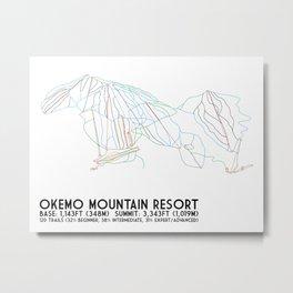Okemo Mountain Resort, VT - Minimalist Trail Art Metal Print